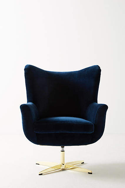 Anthropologie Adavale Swivel Chair