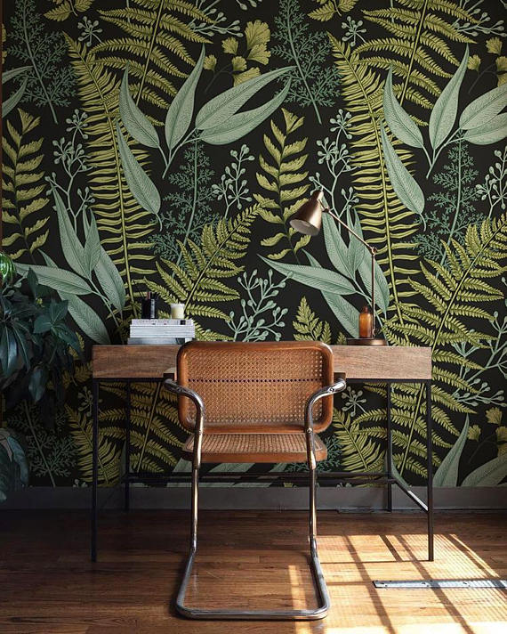 Plantspiration - for plant lovers: Featuring this Botanical Wallpaper from Betapet on #VibeAlchemist www.vibealchemist.com #botanical