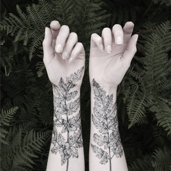 Plantspiration - for plant lovers: Featuring this Fern & Crystal Temporary Tattoo Kit by PenAndPlant on #VibeAlchemist www.vibealchemist.com #tropical