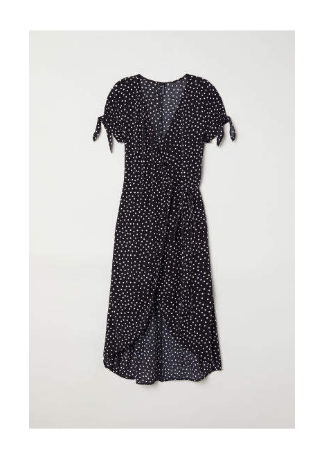 clothing companies that support worthy causes: H&M - Creped Wrap-front Dress