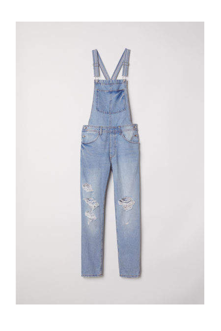 clothing companies that support worthy causes: H&M - Denim Bib Overalls