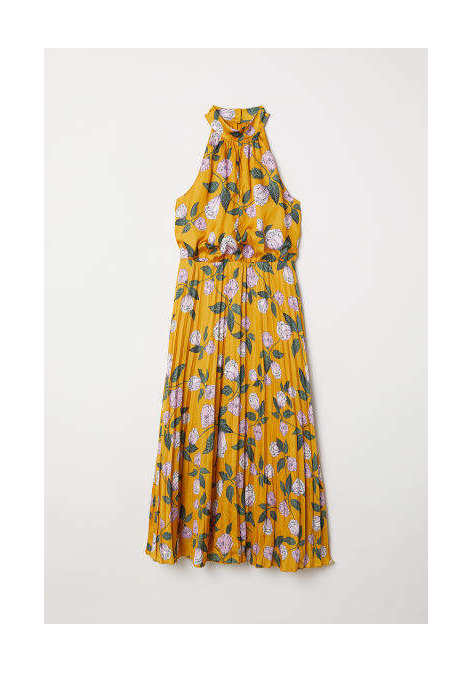 clothing companies that support worthy causes: H&M - Satin Halterneck Dress