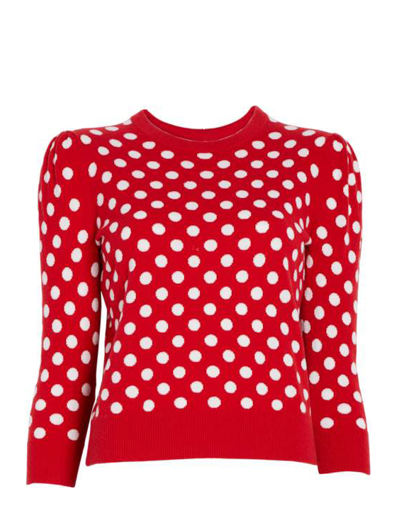 Michael Kors Collection Coin Dot Intarsia Starlet Sweater