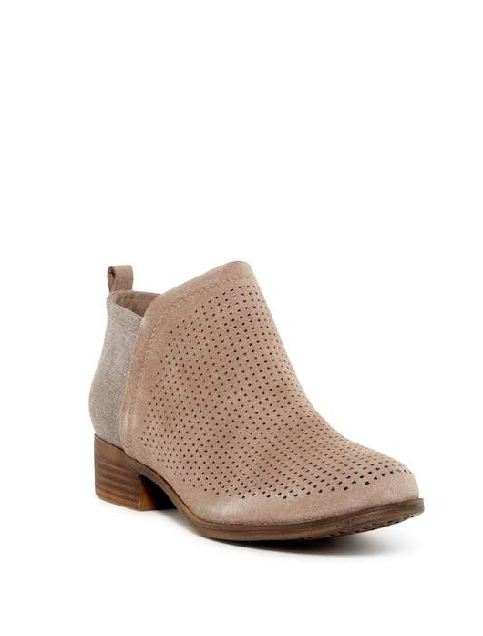 clothing companies that support worthy causes: TOMS Deia Perforated Suede Boot