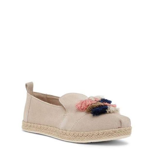 clothing companies that support worthy causes: TOMS Suede Tassel Slip-On Espadrille