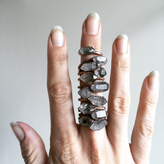 Gift Guide for Crystal Lovers: Tibetan crystal ring