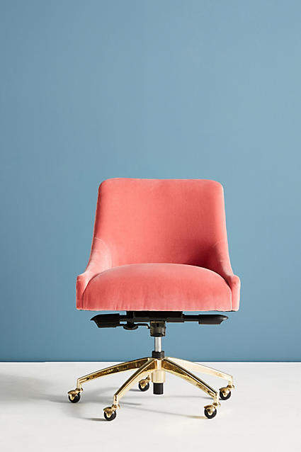 Anthropologie Elowen Swivel Office Chair