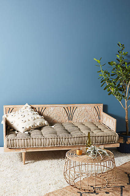living room inspiration: Anthropologie Carved Lovella Daybed