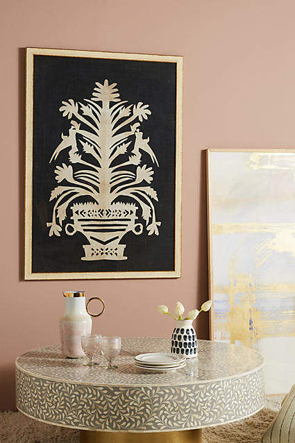 my anthropologie wall art favorites: Anthropologie Cut Nature Wall Art