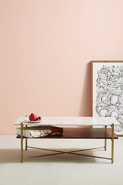 living room inspiration: Anthropologie Elemental Layers Coffee Table