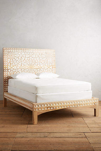 Bedroom decor ideas: Anthropologie Handcarved Albaron Bed