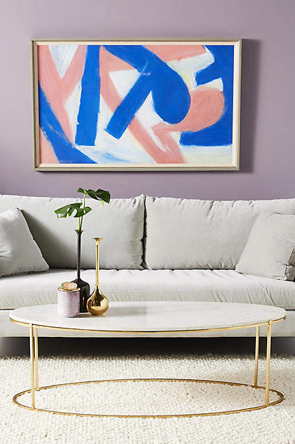 living room inspiration: Anthropologie Leavenworth Oval Marble Coffee Table