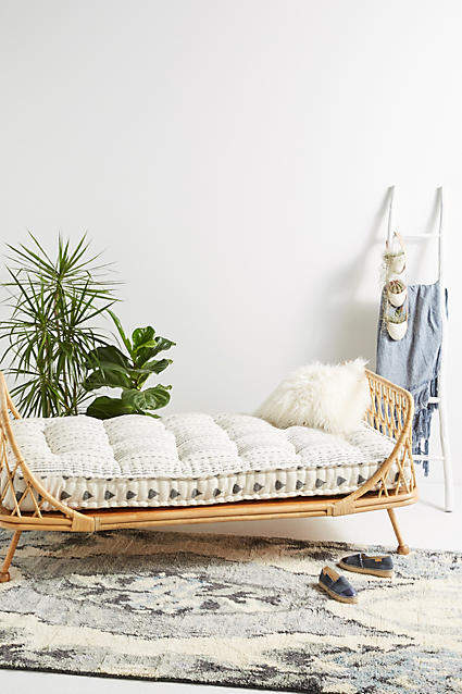 living room inspiration: Anthropologie Pari Rattan Daybed