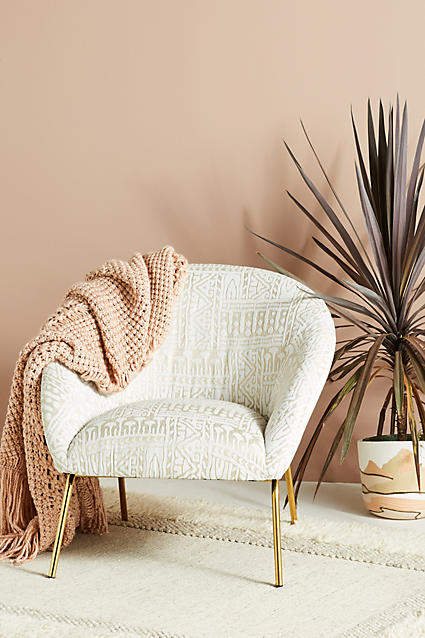 Prettiest Anthropologie Chairs: Anthropologie Rosa Print Hillside Accent Chair