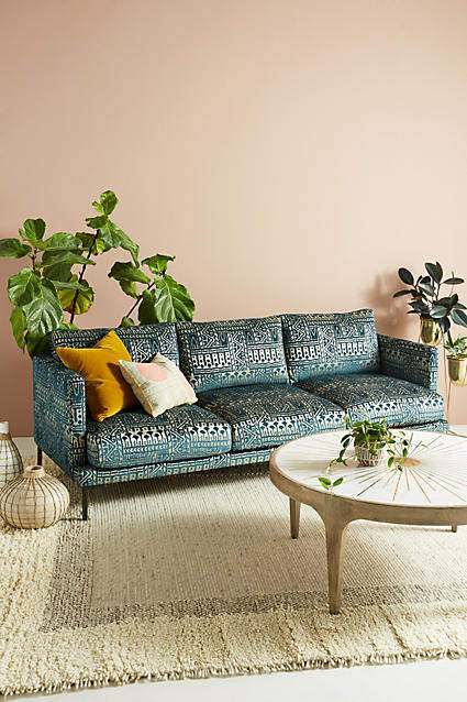 living room inspiration: Anthropologie Rosa Print Linde Three-Cushion Sofa