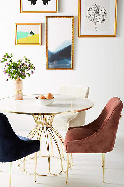 Prettiest Anthropologie Chairs: Anthropologie Slub Velvet Elowen Chair