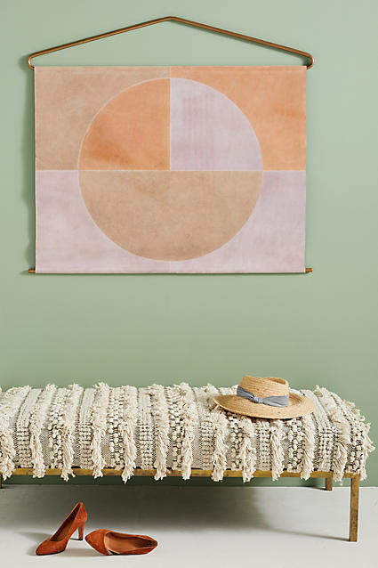 my anthropologie wall art favorites: Anthropologie Suede Sundial Wall Art