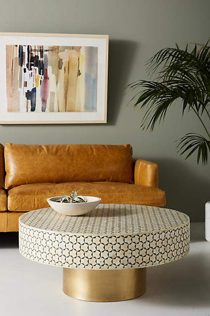 living room inspiration: Anthropologie Targua Moroccan Coffee Table