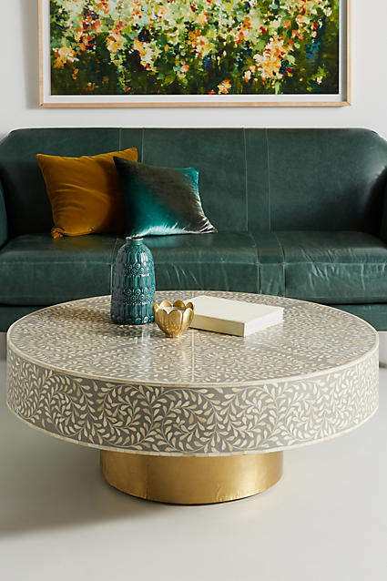 living room inspiration: Anthropologie Targua Scrolled Vine Coffee Table