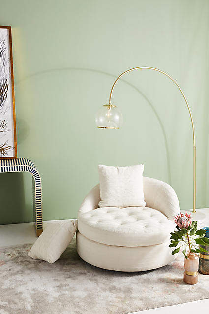 Prettiest Anthropologie Chairs: Anthropologie Textured Cotton Barwick Swivel Chair