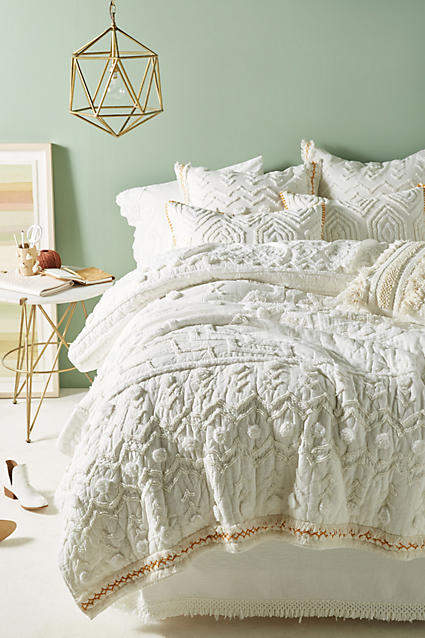 Bedroom decor ideas: Anthropologie Tufted Cidra Quilt