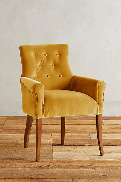 Prettiest Anthropologie Chairs: Anthropologie Velvet Abner Armchair