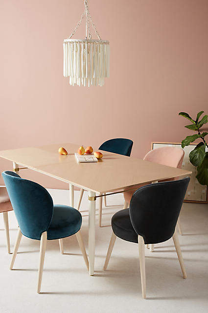 Prettiest Anthropologie Chairs: Anthropologie Velvet Remi Dining Chair