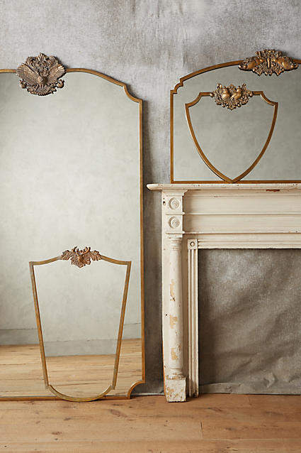 my anthropologie wall art favorites: Anthropologie Wooded Manor Mirror