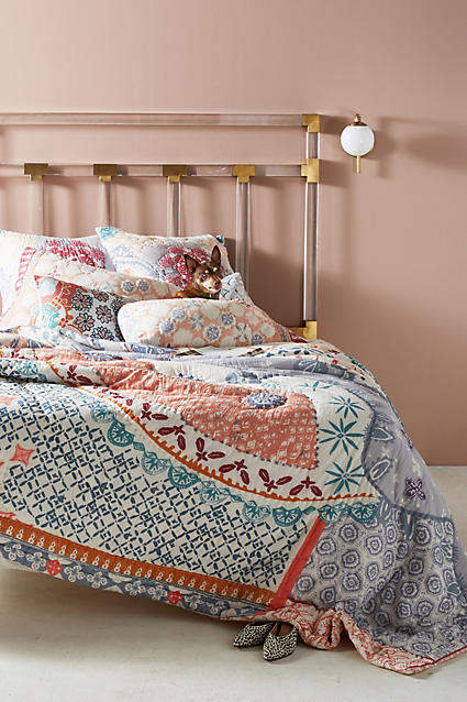 Bedroom decor ideas: Artisan Quilts by Anthropologie Laterza Quilt