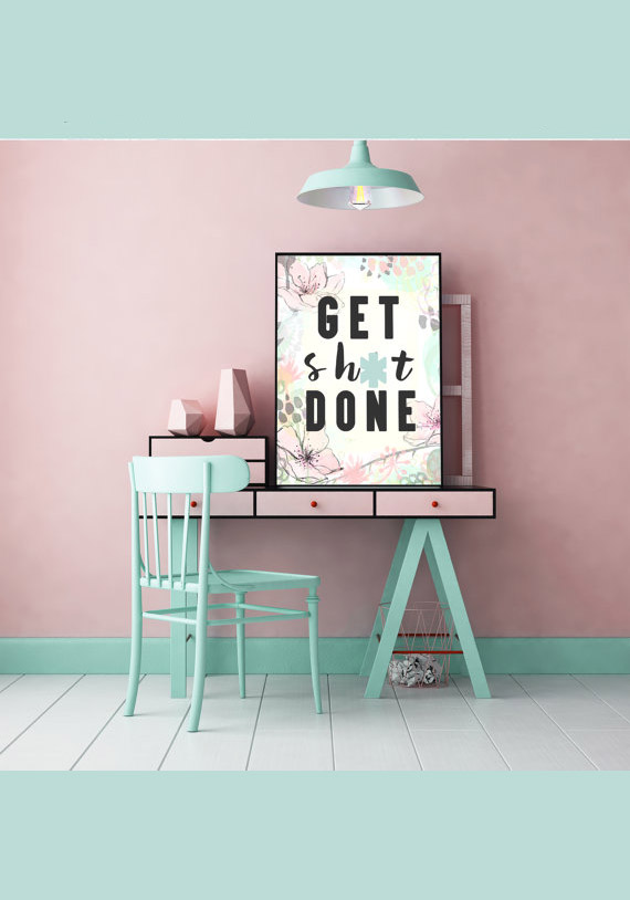 Gifts for Virgos: Get the hard working Virgo in your life this Get Shit Done Poster from CreatingBeautifully! #giftsforvirgos #virgos #virgogifts