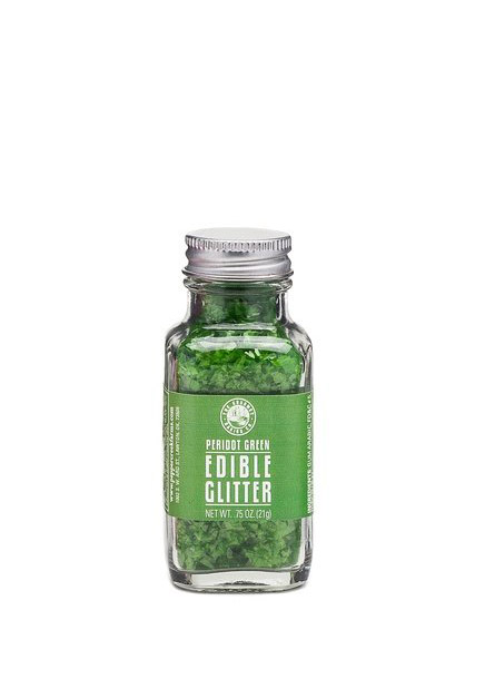 Baking a cake for an August baby? Why not use this Peridot Green Edible Glitter from The Gourmet Baking Company?! #peridot #AugustBirthstone #vibealchemist #leo
