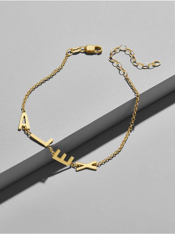 Personalized #Jewelry you'll love to give or get: BaubleBar Express Yourself Alpha Bracelet