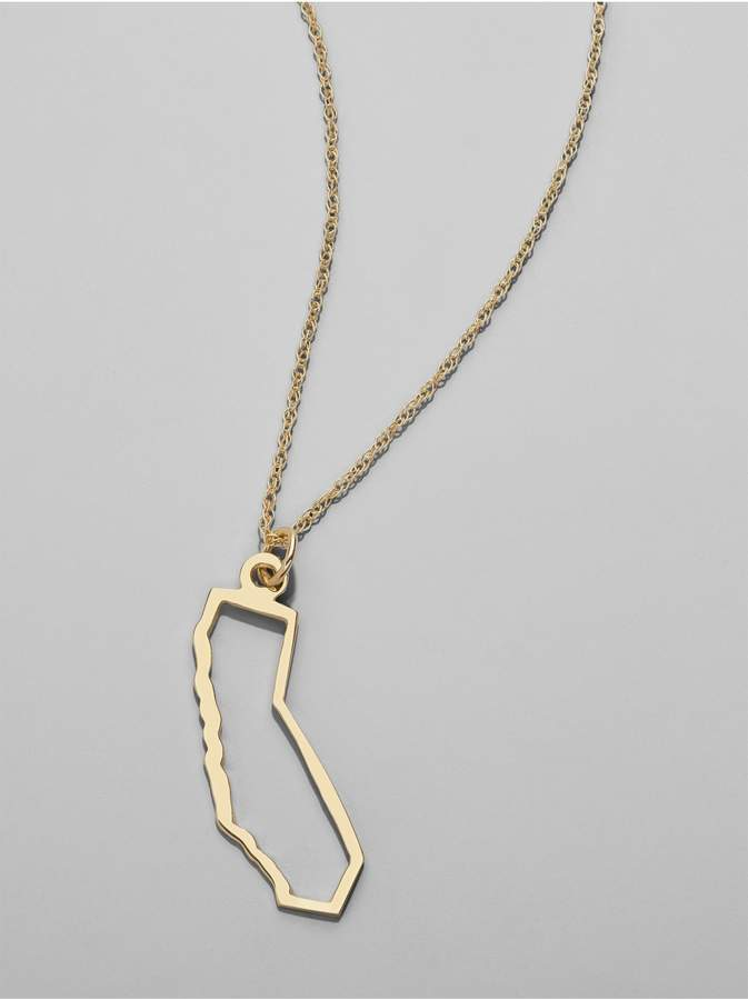 Personalized #Jewelry you'll love to give or get: BaubleBar Maya Brenner States Pendant - California