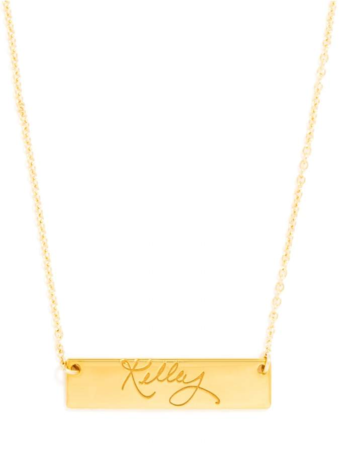 Personalized #Jewelry you'll love to give or get: BaubleBar Your Signature Block Nameplate Pendant