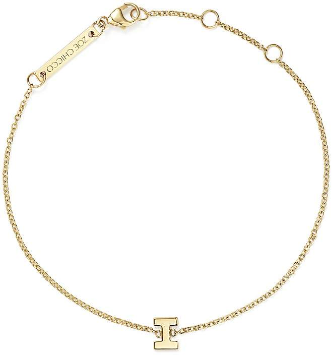 Personalized #Jewelry you'll love to give or get: Zoë Chicco 14K Yellow Gold Initial Bracelet
