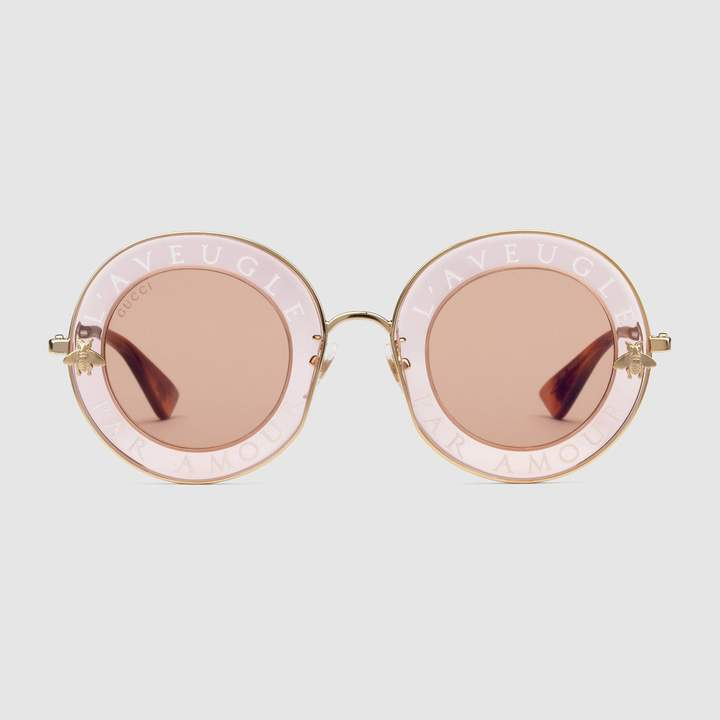 Bold Sunglasses: Gucci - Round-frame metal sunglasses. #sunglasses #Gucci