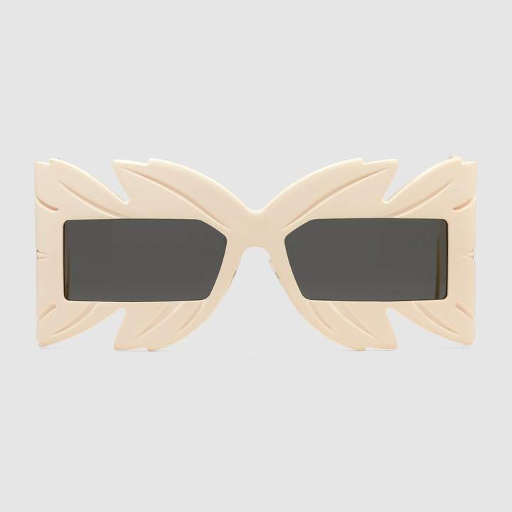 Bold Sunglasses: Gucci - Mask-frame acetate sunglasses. #sunglasses #Gucci #boldsunglasses