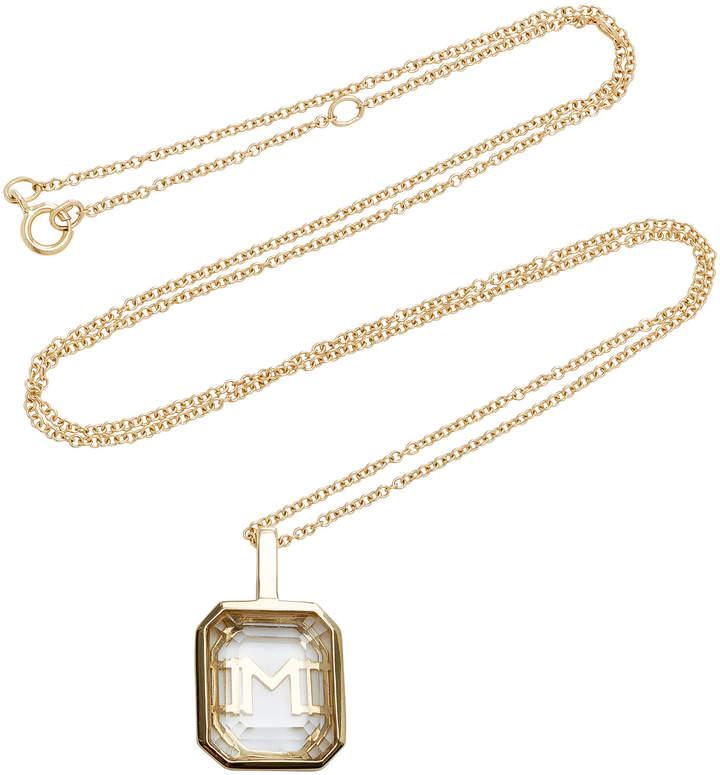 Personalized #Jewelry you'll love to give or get: Mateo M'Onogram White Crystal Initial Necklace