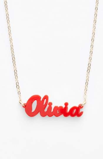 Personalized #Jewelry you'll love to give or get: Moon and Lola 'Script Font' Personalized Nameplate Pendant Necklace