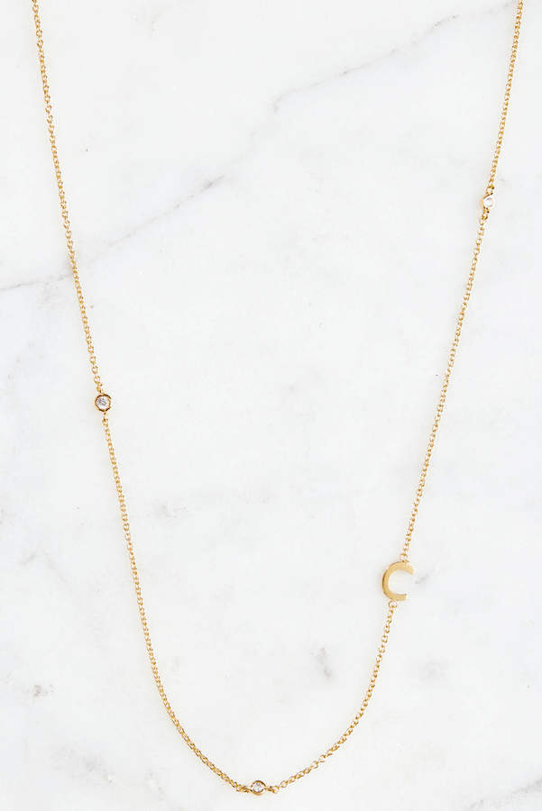 Personalized #Jewelry you'll love to give or get: Tai Gold Alphabet Necklace C