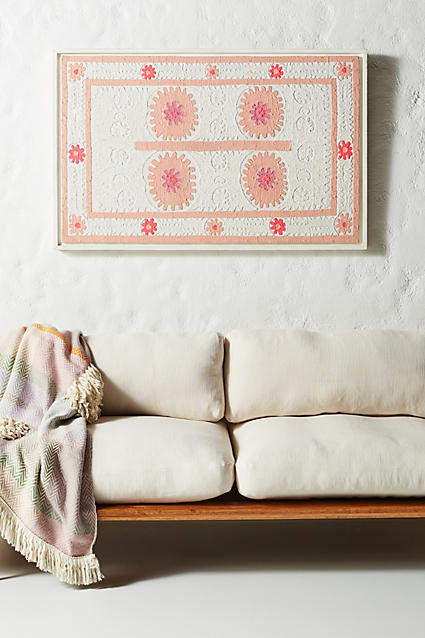 Blush Pink Home Decor Ideas From Vibe Alchemist: Anthropologie Darla  Textile Wall Art #vibealchemist